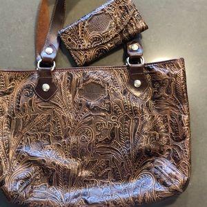 Harley-Davidson tooled leather purse & wallet